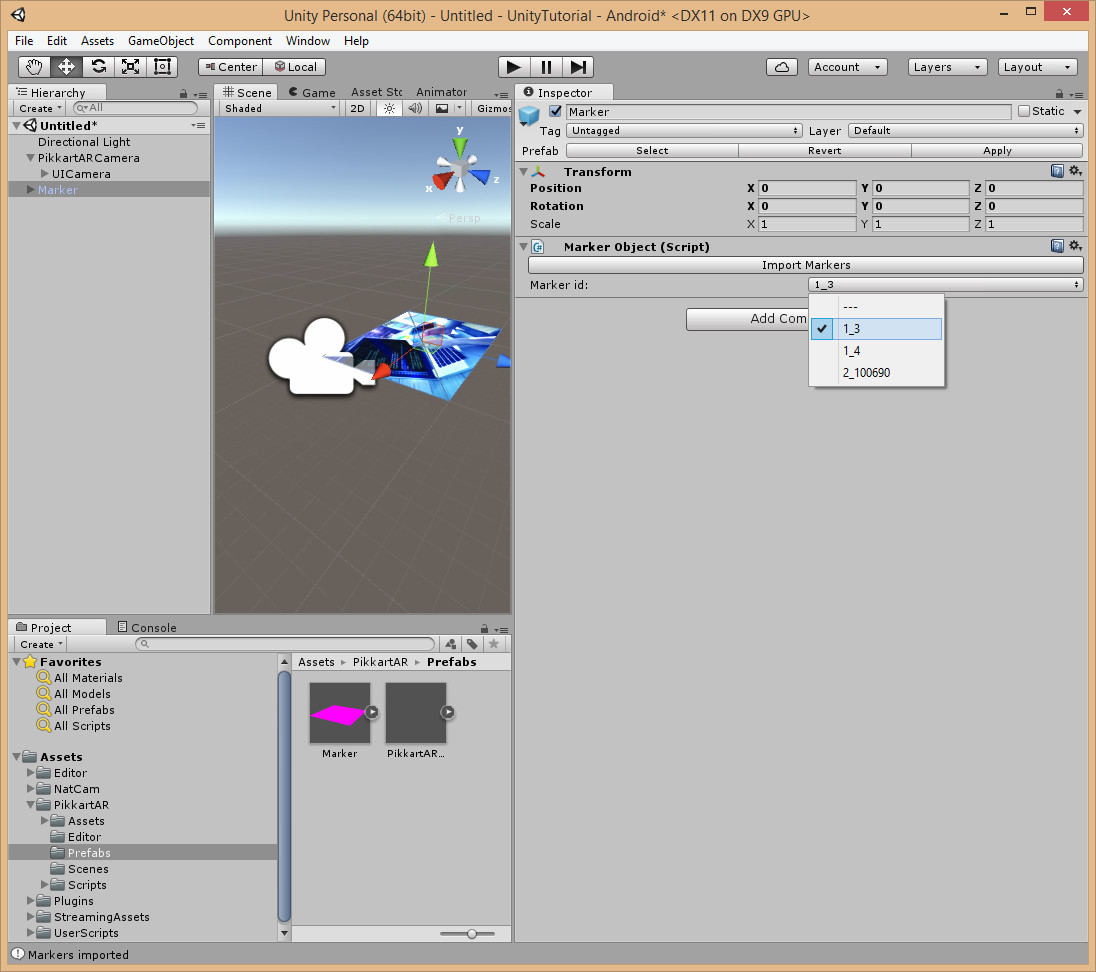 Unity 3D Plugin - Pikkart AR SDK & ecosystem